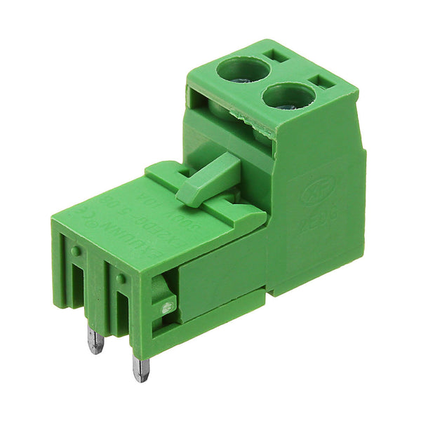 5pcs 5.08mm Pitch 2Pin Plug in Screw PCB Dupont Cable Terminal Block Connector Right Angle