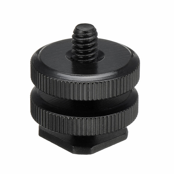 1/4 Inch Dual Thumb Screw Flash Cold Hot Shoe Camera Adapter Mount for GoPro DSLR
