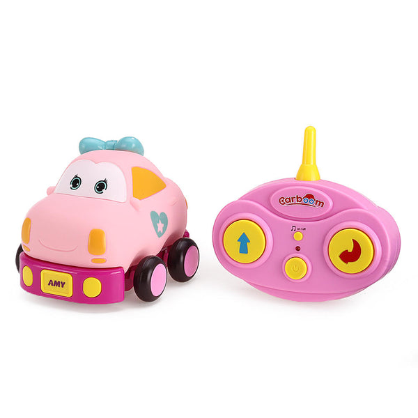 Beiens Electric Wireless Control Cartoon Mini RC Car with LED Light Music without Battery Toys