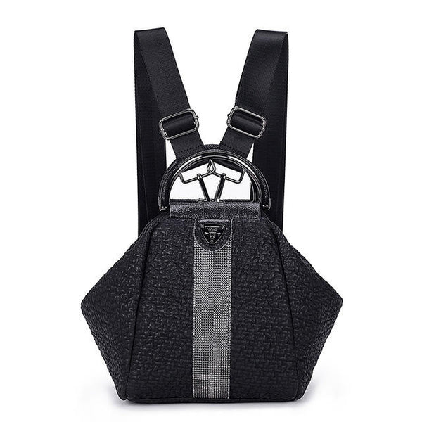 Women's Bag New Casual Fashion Bubble Pattern Diamond Shoulder Bag Personality Diamond-shaped Shoulder Travel Backpack Generation