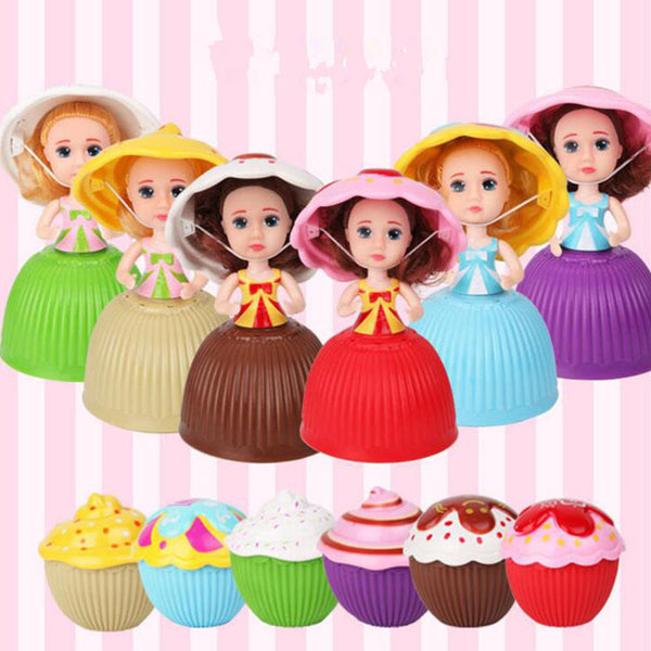 9CM Mini Cupcake Princess Surprise Doll Dress Sweet Smell Cup Cake Girls Dolls Funny Playing House Gift