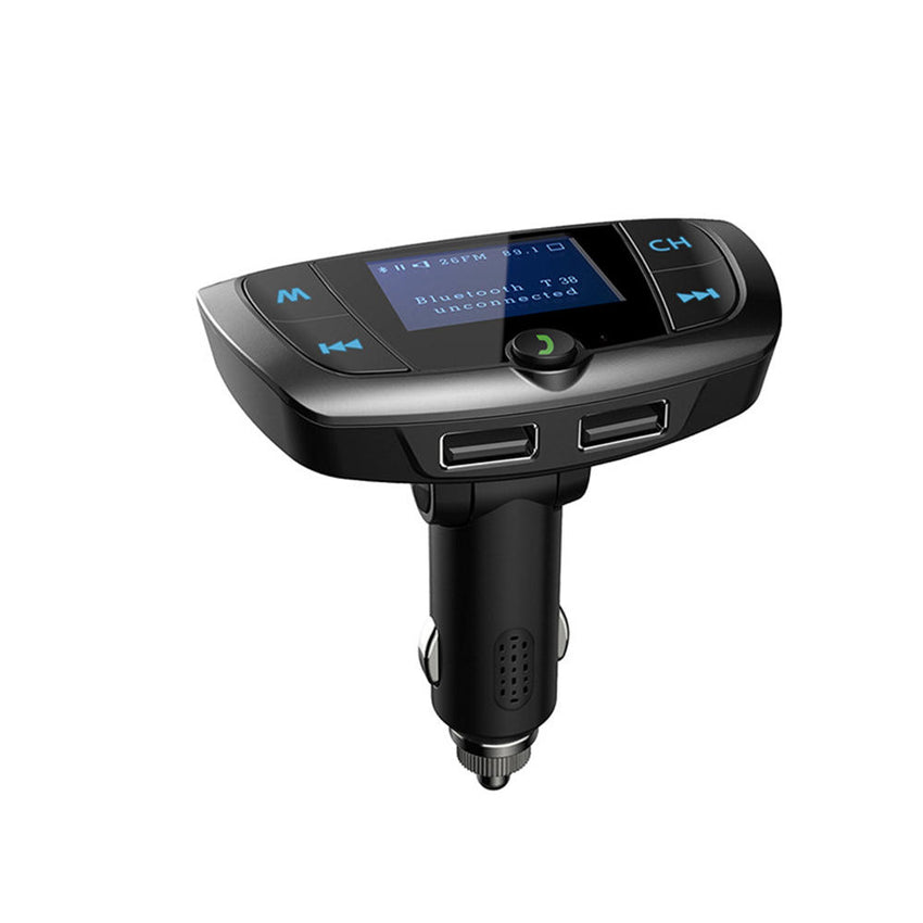 Bakeey T38 Large Screen bluetooth MP3 Player FM Transmitter Fast Charging Car Charger For iPhone 8Plus XS 11 Pro Huawei P30 Pro Mate 30 5G