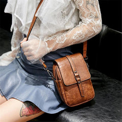 Vintage Large Capacity Phone Bag Crossbody Bag Shoulder Bag With Detachable Strap