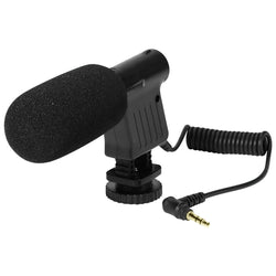 3.5mm Professional Recording Microphone Digital Video DV Camera Studio Stereo Camcorder for Canon Pentax SLR Camera