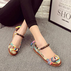 SOCOFY Size 5-11 Women Casual Flats Beading Round Toe Colorful Comfortable Flats Loafers Shoes - EY Shopping