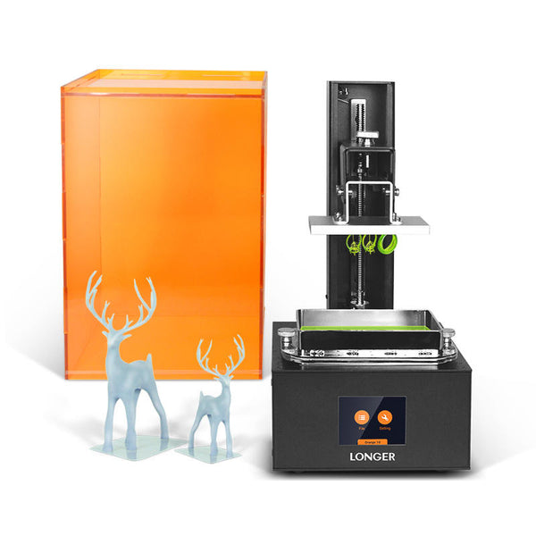 Longer Orange10 UV Resin 3D Printer 98mm*55mm*140mm Print Size 2.8inch Touch Screen Offline Printing