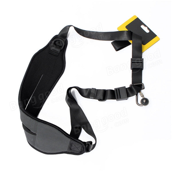 Nylon Camera Shoulder Neck Strap Belt Sling For Canon Nikon Sony DSLR Black