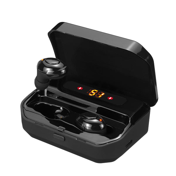TWS Digital Display bluetooth 5.0 Wireless Earbuds CVC8.0+DSP Noise Cancelling In-ear Sport Earphone Auto Pair Headphone