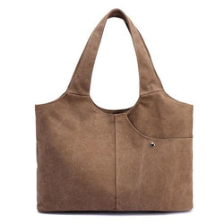 Women Quality Canvas Casual Large Capacity Handbag Shoulder Bag - EY Shopping