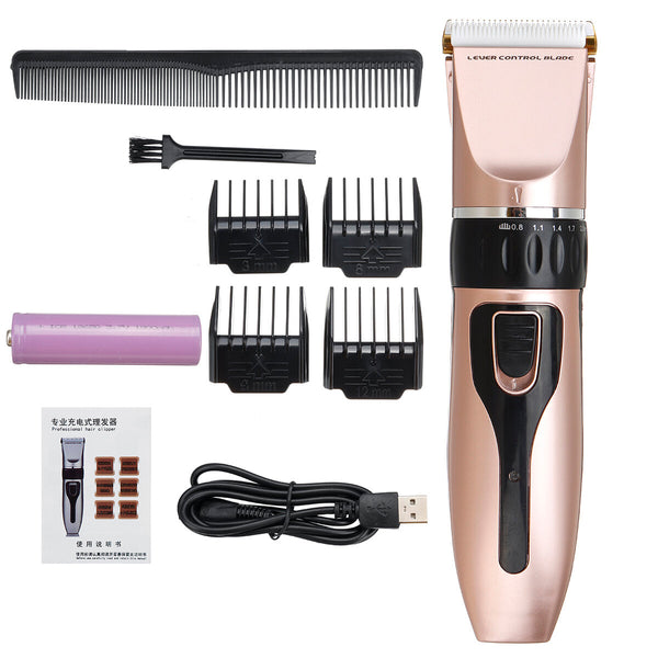 20W Wireless Electric Shaver Professional Hair Clipper Trimmer Haircut Machine For Adults Children Pets W/ 4 Limit Combs