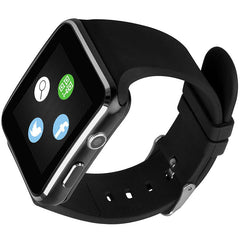 Bakeey X6 Curved HD Camera SIM Card Call Sleep Monitor Built-in Apps Smart Watch for iOS Android