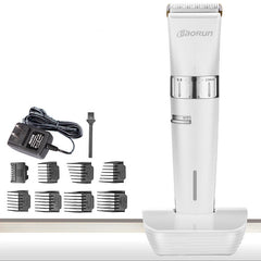 BaoRun T2 Pro Electric Hair Clipper Titanium Ceramic Blade Beard Shaver Trimmer 110V 240V