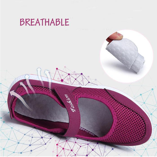 Women Sneakers Hollow Out Breathable Backless Casual Shoes - EY Shopping