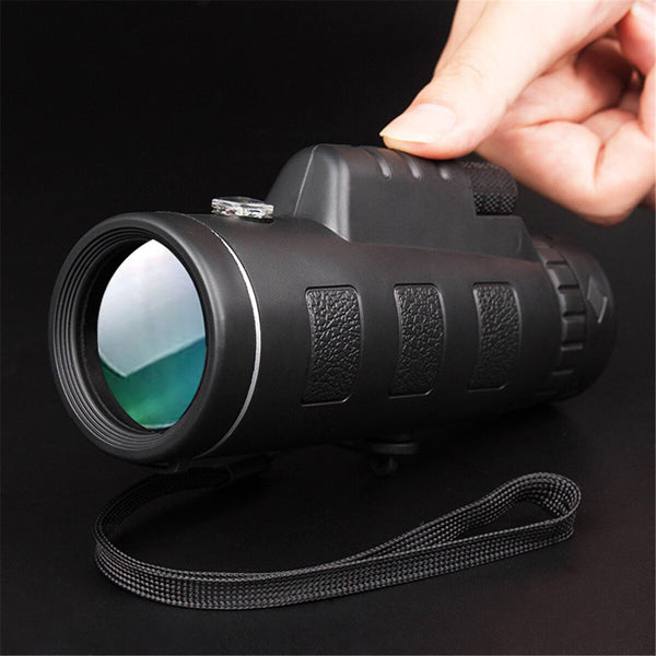 40x60 50mm Wide Angle Multifunctional Low Light Level Night Vision HD Waterproof Monocular Camping Telescope