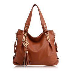 Women Casual PU Leather Pendant Handbag Crossbody Bag - EY Shopping