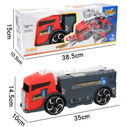 Children's Simulation Diecast Engineering Vehicle Model Set Deformation Storage Parking Lot Educational Toys