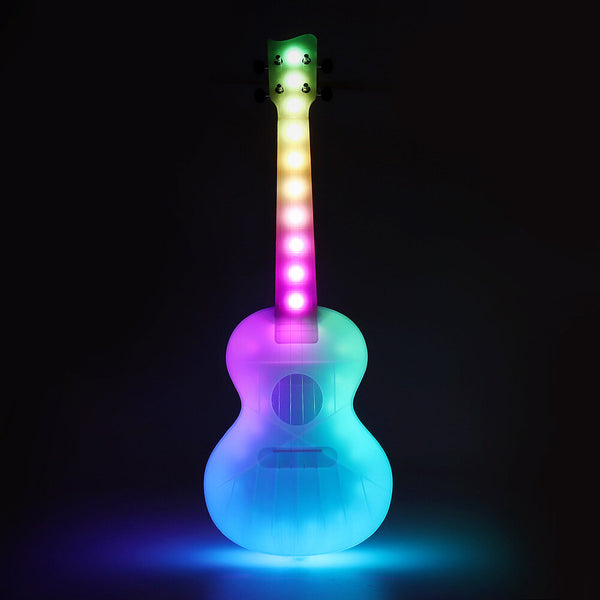 SOLO 23 Inch Concert Unique LED Lighting Smart Ukelele Anti-Broken Polycarbonate Ukulele with Bag