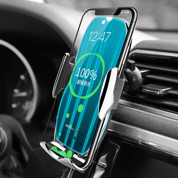 Bakeey H8 15W Qi Wireless Charger Infrared Induction Clamping Air Vent Car Phone Holder Car Mount For 4.0-6.9 Inch Smart Phone For iPhone 11 Pro Xiaomi Note 9S