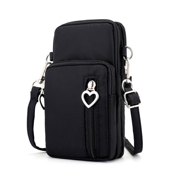 Women Nylon Water Resistant Crossbody Bag Multi-function Phone Bag Shoulder Bag