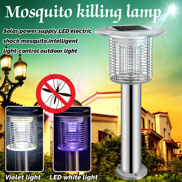 Solar Violet LED Electric Shock Mosquito Intelligent Light-control Outdoor Lamp Mosquito Dispeller