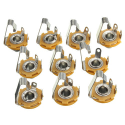 10Pcs 1/4'' 6.35mm Mono Input Jack Socket For LP TL Electric Guitar Bass