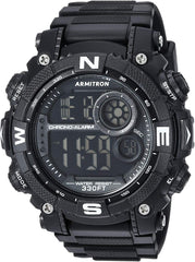 Sport watch with textured band Armitron Sport Men's 40/8284 Digital Chronograph Watch USA Imported Product