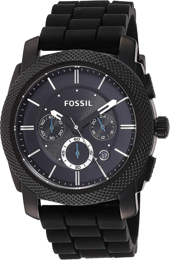 Best USA Imported Product, 45mm Fossil Men's Machine Stainless Steel and Silicone Chronograph Quartz Watch