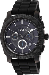 45mm Fossil Men's Machine Stainless Steel and Silicone Chronograph Quartz Watch USA Imported Product - EY Shopping