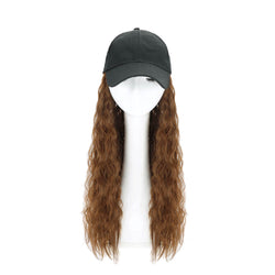 Woman Girl Cap Wig Hat Light Long Wavy Halloween Party Curly  Club Winter