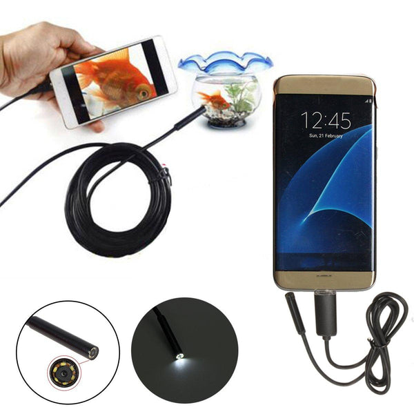 7mm 2 In1 USB Endoscope Borescope Inspection Camera for Phone Tablet PC