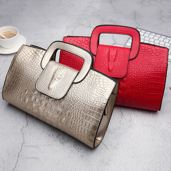 Women Crocodile Pattern Crossbody Bags Messenger Bags Casual Handbags