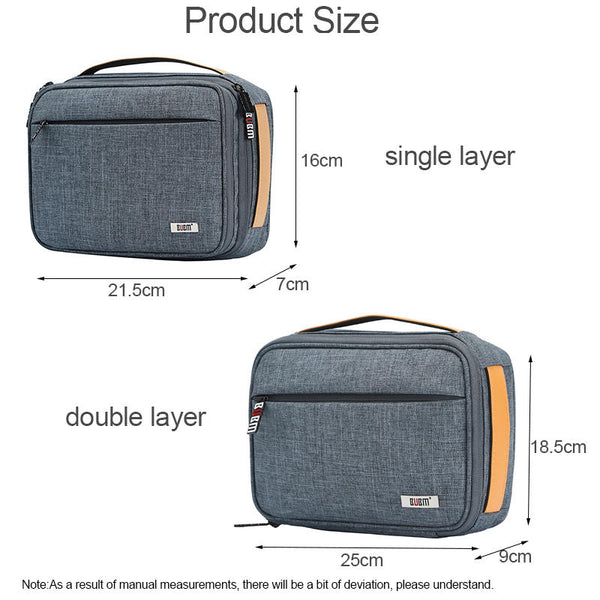 BUBM DMS-S Single Layer Double Layer Digital Accessories Storage Bag Travel Cable Charger Phone Tablet Organizer Bag