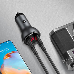 Baseus QC3.0 Dual USB Car Charger 45W Quick Charging For Xiaomi Mi10 9Pro Redmi K30 Apple XS 11Pro