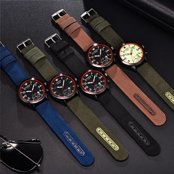 XINEW 2326 Fashion Men Quartz Watch Casual Nylon Strap Wrist Watch