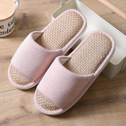 Women Knitted Comfy Open Toe Home Slippers