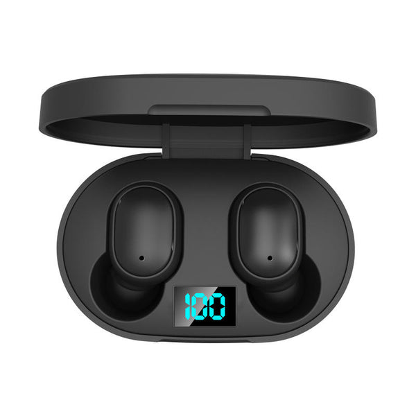 E6S TWS bluetooth 5.0 Headset Digital Display Earphone Wireless Stereo In-ear Headphones with Charging Box for Xiaomi Huawei