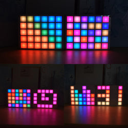 Geekcreit DIY Multi-function LED Cool Music Spectrum RGB Color Palette Clock Kit