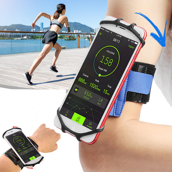 Adjustable Arm Phone Bag Applicable 4-6 inch Phone 180 Rotatable Outdoor Running Wristband Rotating Phone Bag