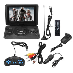 Portable 13.9inch 3D Car TV HD DVD Player 270 Rotate USB 300 Games with Remote