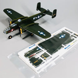 MinimumRC B-25 Mitchell Bomber 360mm Wingspan Micro 3CH RC Airplane Kit With Dual Motor