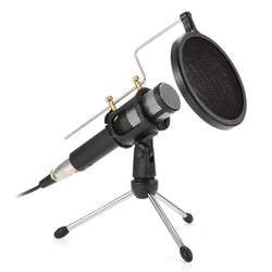 USB Professional Home Studio Condenser Microphone for Live Broadcast Podcast Recording PC Laptop for Windows