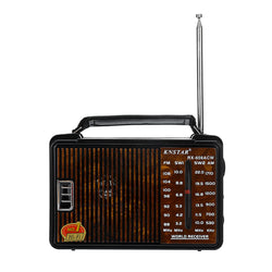RX-608AC DC 3V Portable FM AM SW1 SW2 Radio 4 Band Radio Gift for Old People