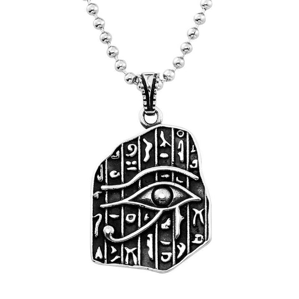 Retro Stainless Steel Maya Characters Titanium Steel Ball Pendant Chain Selection for Men