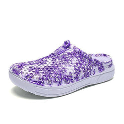 Floral Printing Hollow Out Breathable Casual Shoes - EY Shopping