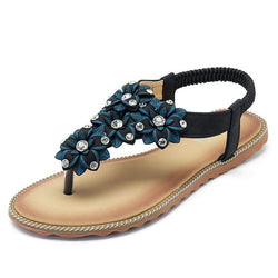 SOCOFY Women Bohemian Casual Beach Soft Flat Sandals