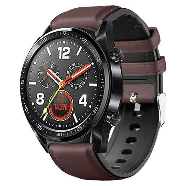 Bakeey 22MM Silicone and Leather Watch Band for Amazfit GTR 47MM HUAWEI GT Smart Watch