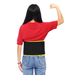Unisex Body Shaper Fitness Sweat Waist Belt Slimming Strap Elastic Pressure Straining Waist