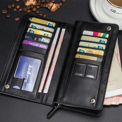 Baellerry Multi-function Bussiness Large Capacity with Card Slots Men PU Leather Phone Wallet Bag