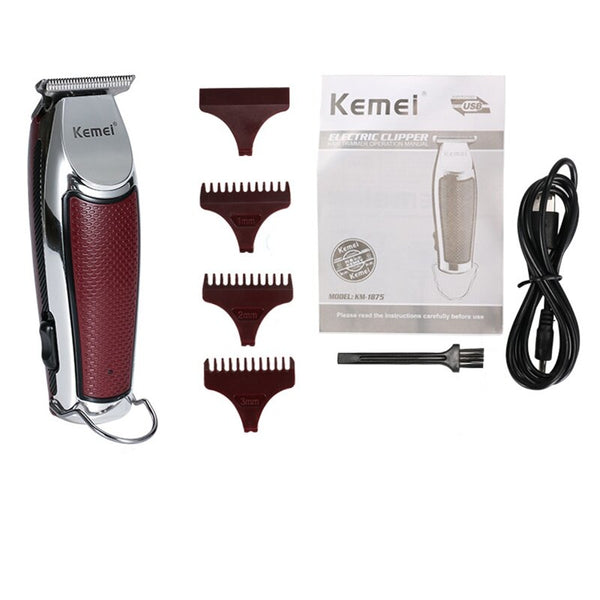 Kemei KM-1875 Men Electric Cordless Hair Clipper Professional Hair Trimmer Hair Cutter Machine