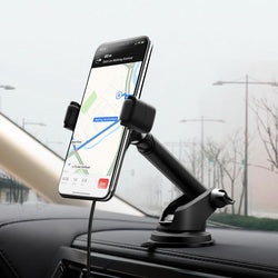 HOCO 10W Qi Wireless Charger Fast Charging Dashboard Car Phone Holder Car Phone Mount For 4.0-6.5 Inch Smart Phone